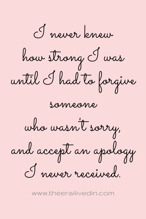 Why I chose to forgive my ex-husband after all the ill he brought my way! Read the full story on my blog! #theerailivedin #divorce #forgiveness #quotestoliveby #inspiration