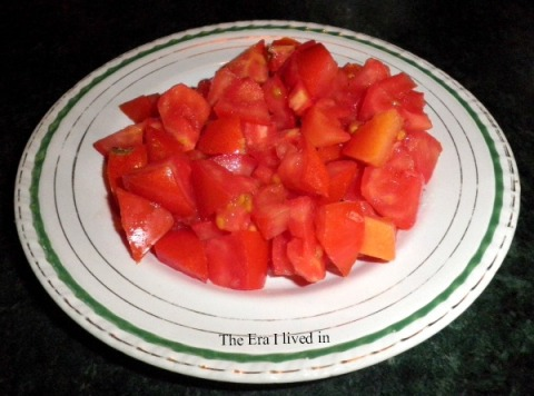 Chopped ripe tomatoes