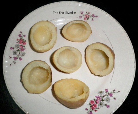 Prepared potato cups