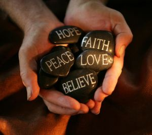 Peace Hope Faith Love Believe