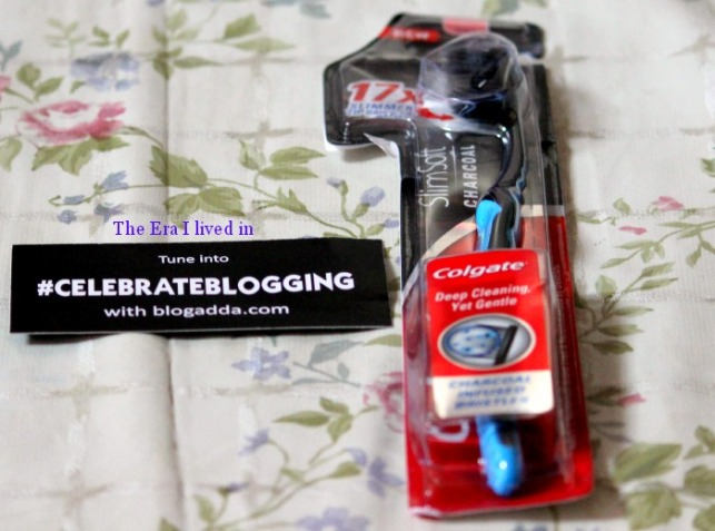Colgate Charcoal Slim soft Toothbrush  (The sample arrived late but I am so glad it did )