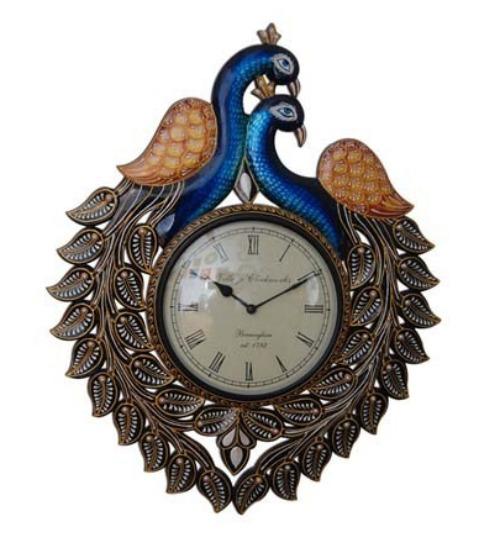 Peacock clock -3