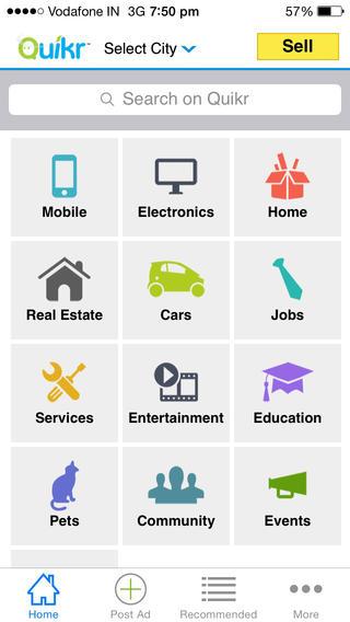 Quikr app screenshot