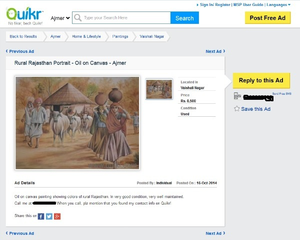 Quikr - Painting ad.2