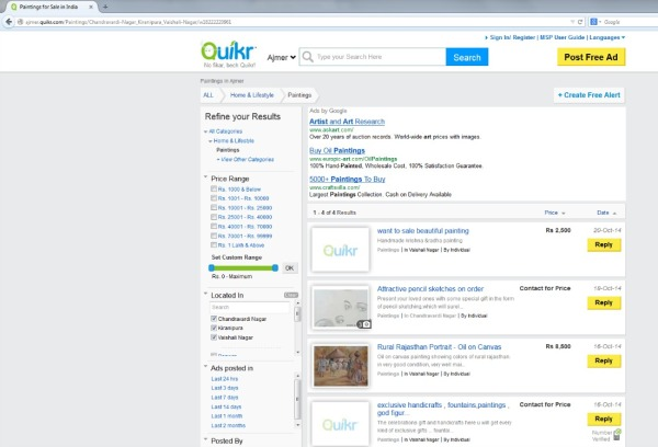 Quikr - Painting listing.1
