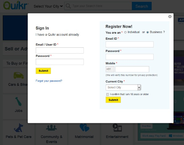 Quick & Easy Registration