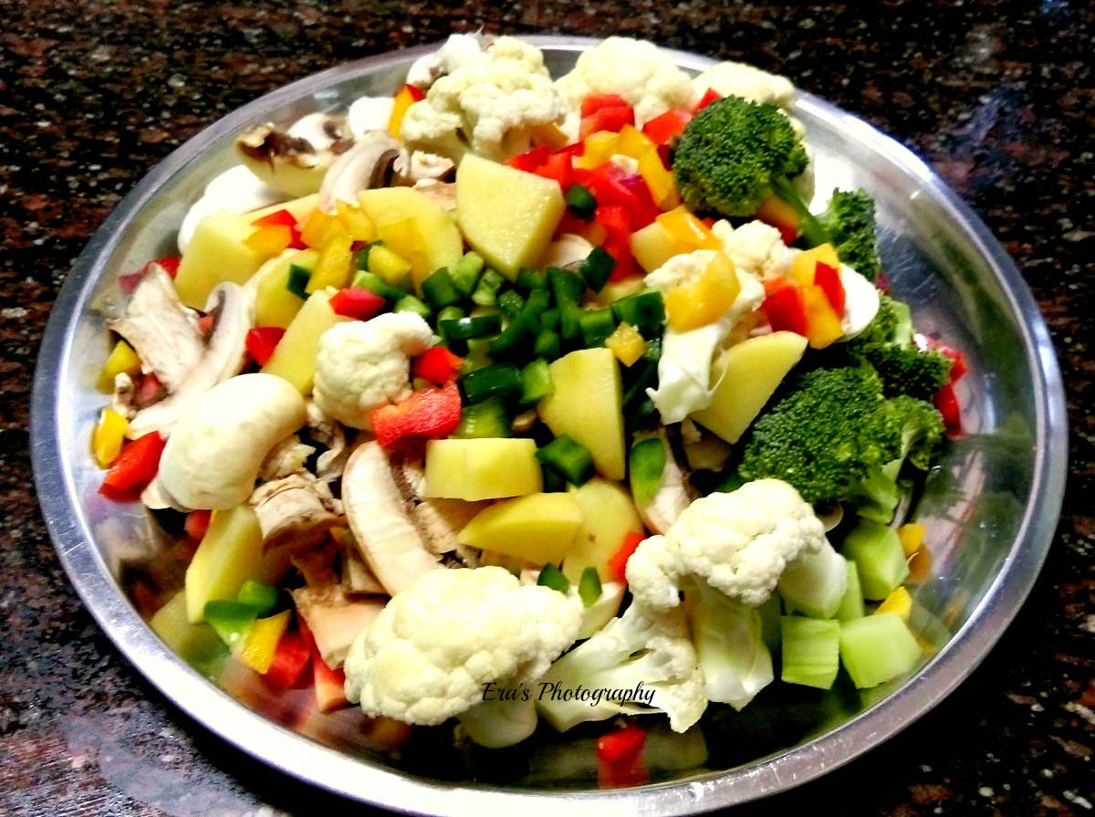 Baked Vegetables in White Sauce | The Era I lived in