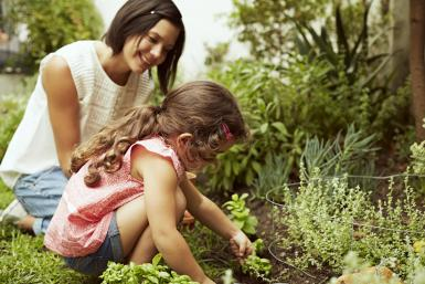 Learning love gardening with Mom