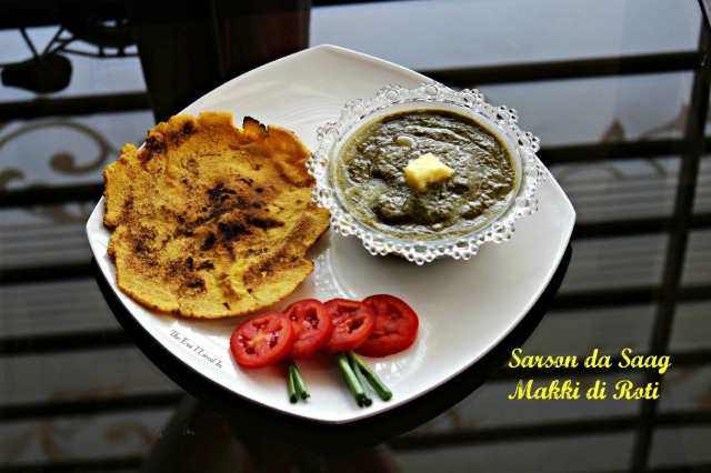 Homemade authentic Sarson ka Saag recipe that pairs well with Makki di Roti. A winter staple from Punjab that's rich and tasty in every bite. #theerailivedin #SarsonKaSaagRecipe #WinterFoods #IndianRecipes