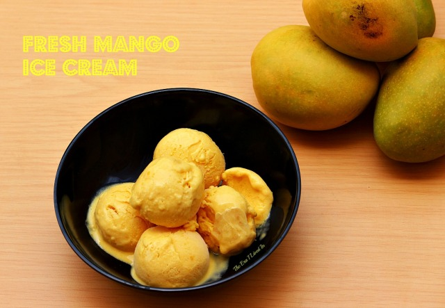 Fresh Mango Ice-cream