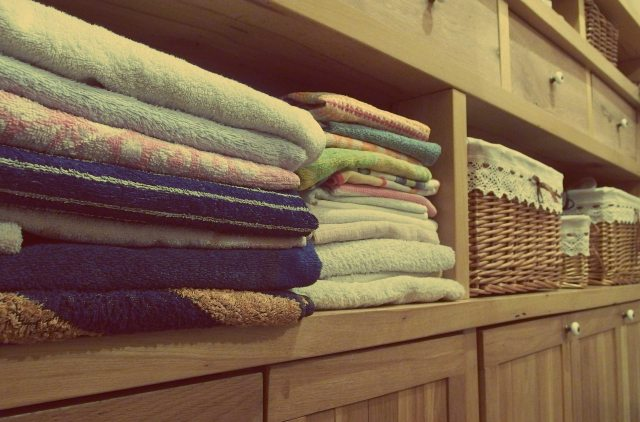 Rearranged and stacked towels and laundry baskets. Organizing closets can be therapeutic. It brings me immense peace and joy to de-clutter and rearrange parts of my home when I'm feeling stressed out.